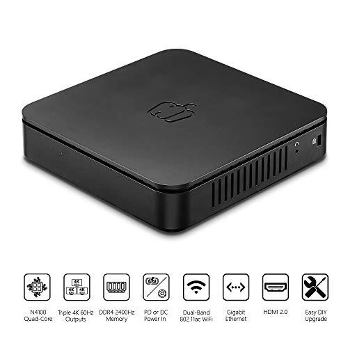 PEPPER JOBS GLK-UC2X Unlocked Intel N4100 Mini PC with Windows 10 Pro (64-bit) [Upgradeable/4GB/64GB/Dual-Band Wi-Fi/Gigabit Ethernet/Triple 4K 60Hz outputs/Dual USB-C]. Sold Directly by Pepper Jobs