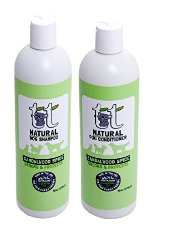 Sandalwood Spice Natural Dog Shampoo & Conditioner 16 oz duo