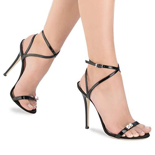 Laufsteg Offener Damen Spitze Strass Heel FF Super 8 Heel Wortband cm Mehr High Schuhe Mode Schuhe LFF Oder Schlanker High Zeh Eq57fA