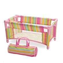 Manhattan Toy Baby Stella Take Along Travel Crib Pack and Play Accessory for Nurturing Dolls