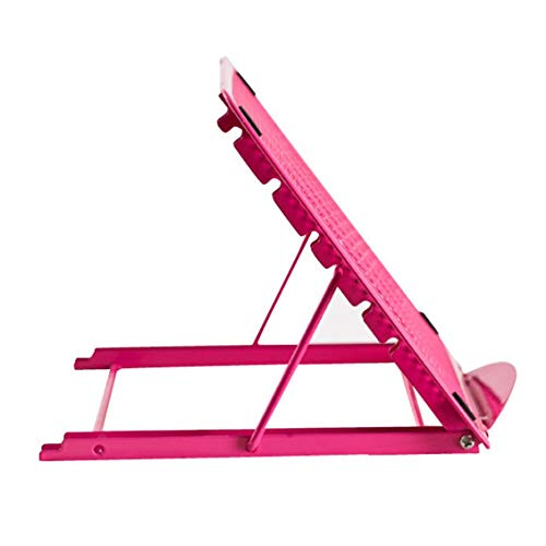 Chelsea Portable Foldable Laptop Stand Ventilated Notebook Dismountable Laptop Holder Rose red ()