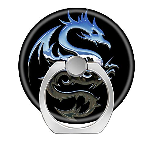 Jewelry Cell Phone - LoveStand-Cell Phone Ring Holder 360 Degree Finger Ring Stand for Smartphone Tablet and Car Mount-Chrome Dragon