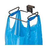 InterDesign Classico Steel Over the Cabinet Plastic Bag Holder for Kitchen, Pantry, Bathroom, Dorm Room, Office, Bronze