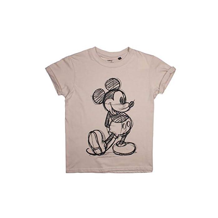 41 5uLO%2BzPL Producto oficial de Disney. Estilo: camiseta de corte regular para niñas. 100% Algodón