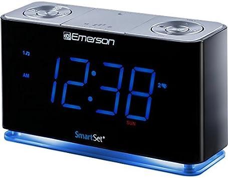 Amazon.com: SmartSet Radio Reloj Despertador con Altavoz ...