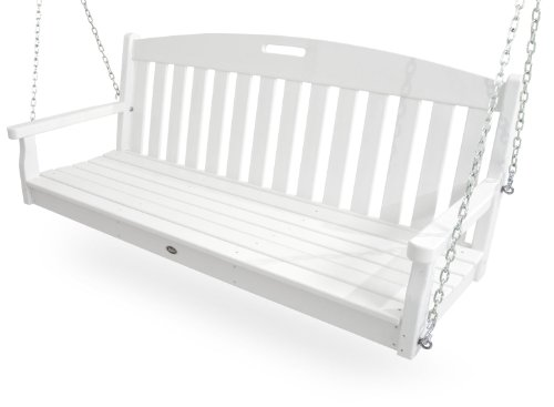 Trex Outdoor Furniture Yacht Club Swing, Classic White ()
