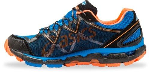 Asics scarpe da corsa Gel Fuji Sensor 2 Uomo Blu/Argento/Neon Arancio