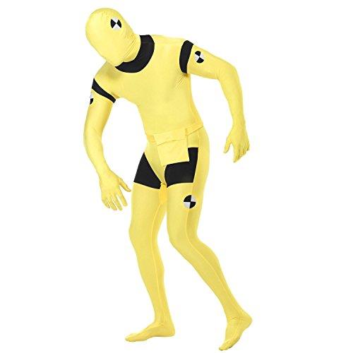 Crash Dummy Second Skin Suit Adult Costume - Large