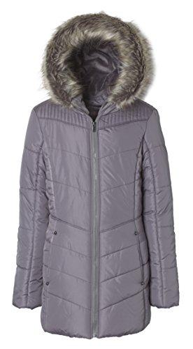 Quilt Faux Fur Hood Coat - 7