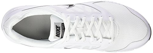 Running White Nike 6 Metallic Black Silver Entrainement de Downshifter Chaussures Homme Blanc rI8qwIHR