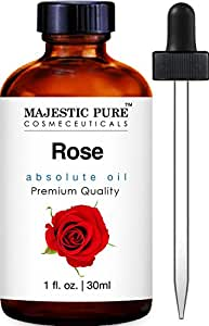 Majestic Pure Rose Oil Absolute, Therapeutic Grade, Premium Quality Rose Oil 1 fl Oz