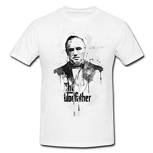 The-Godfather T-Shirt Herren, weiß mit Aufdruck