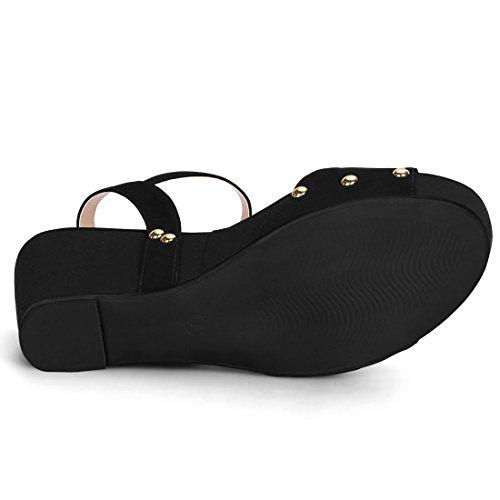Allegra Single Wedge Platform K Sandals Heel Women Strap Black 7rgv7Eqxwn