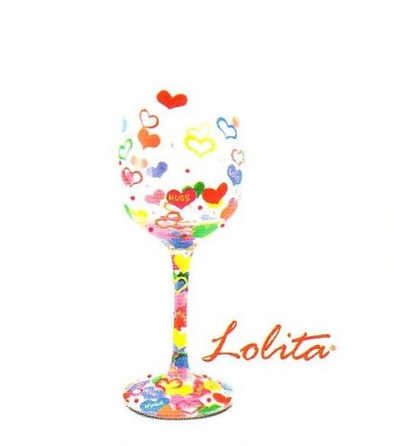 Lolita My Heart's Afloat Wine Glass