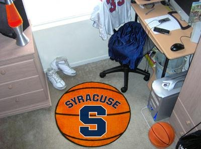 - Fanmats Syracuse Orangemen Basketball-Shaped Mat