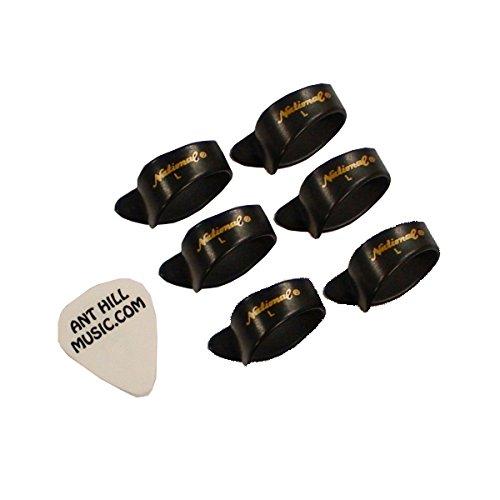 Bluegrass Guitar Picks (National Thumb Picks Banjo picks Dobro Picks Bluegrass Picks 6 Pack Black Large)