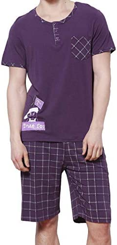 ルームウェア メンズパジャマ 夏 ストライプ 半袖 上下セット ソフト