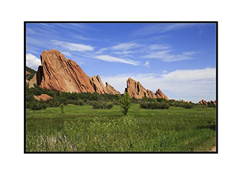 Colorado - Roxborough State Park - Photography A-94091 (36x24 Framed Gallery Wrapped Stretched Canvas)