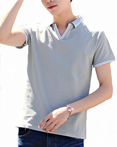 ITrustit ポロシャツ メンズ 半袖 通気性 薄手 吸汗速乾 半袖ポロシャツ poloシャツ ゴルフ シャツ ゴルフウェア シンプル 春夏季対応 トップス 823