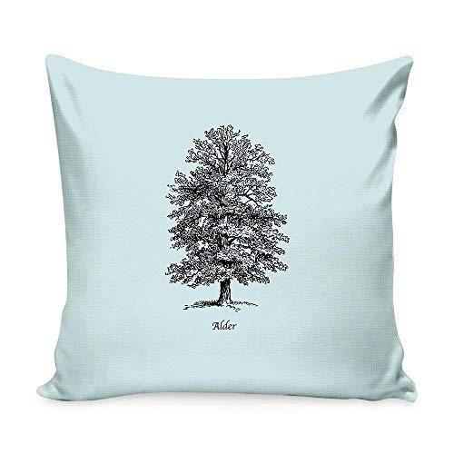 Alder Outdoor Chair (DEFFWBb Alder Throw Pillow Covers Pattern Print Pillowcase 18×18 inches)