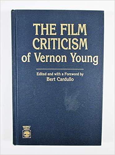 Amazon Com The Film Criticism Of Vernon Young 9780819178466 Cardullo Bert Books