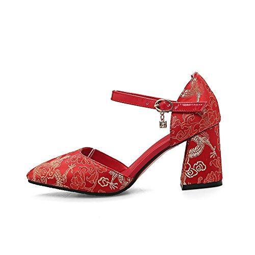Femme AdeeSu Red 36 5 Rouge Compensées Sandales pqxRP8
