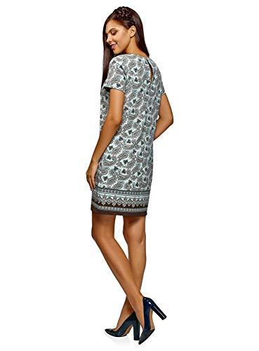 6537e Verde Collection Básico Mujer Oodji Vestido Recto gCqY6