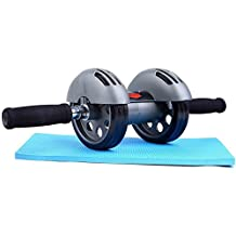 Sportneer Ab Wheel Roller with Knee Mat Balance Pad, Dual Wheels Abdominal Trainers Exercise Fitness Equipment
