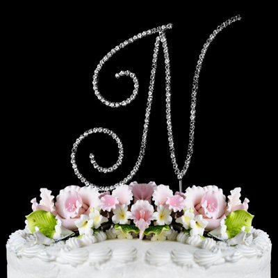 renaissance monogram wedding cake topper large letter n by other