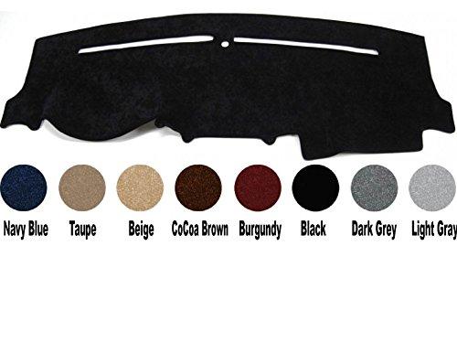 - Premium Carpet Dash Cover Mat for 1999-2004 Ford Super Duty F250/F350/F450 - Custom made (Black)