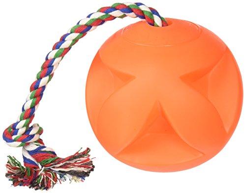 Soft-Flex Toss-N-Clutch Ball Rope Dog Toy, 4.5-inch]()
