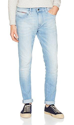 Tommy_Jeans Tapered Steve Belb, Vaqueros Slim para Hombre Azul (Berry Light Blue Comfort 911)