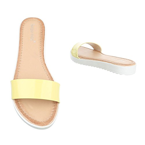 Ital-Design - Sandalias de vestir de Material Sintético para mujer Gelb T165