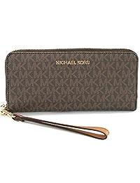 a974e42c944f Michael Kors Women s Jet Set Travel Continental Leather Wallet Baguette