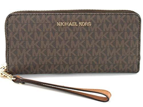 - Michael Kors Women's Jet Set Travel Wallet No Size (Brown/Acorn)