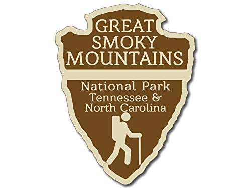 American Vinyl Arrowhead Shaped Great Smoky Mountains National Park Sticker rv Hiking Tenn