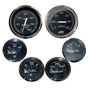 Faria Box Set of 6 Gauges - Speed, Tach, Fuel Level, Voltmeter, Wate. [KTF064] ()
