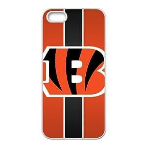 Cincinnati Bengals Team Logo iPhone 5 5s Cell Phone Case White persent zhm004_8505446