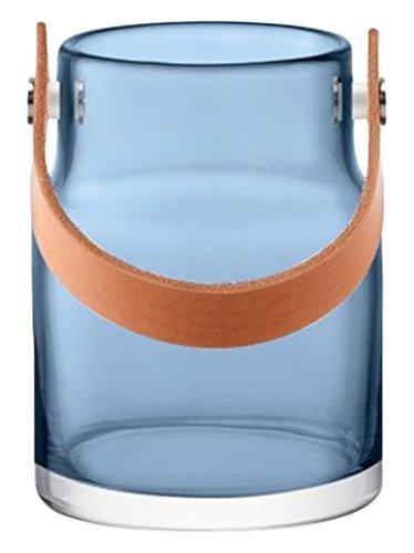 LSA (エルエスエー) ユーティリティ レザーハンドルフラワーベース S 185mm ブルー G1293-13-740 TLA2743 B01CQF47BY Small|ブルー ブルー Small