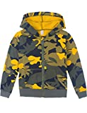 Spring&Gege Youth Classic Full Zip Camo Hoodies Kids Camouflage Hooded Sweatshirt for Boys and Girls Size 9-10 Years Camo-Yellow