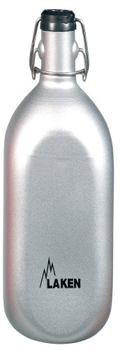 Laken Cuadrada Aluminum Water Bottle with Pressure Grolsch-Type Top 34 Ounces.