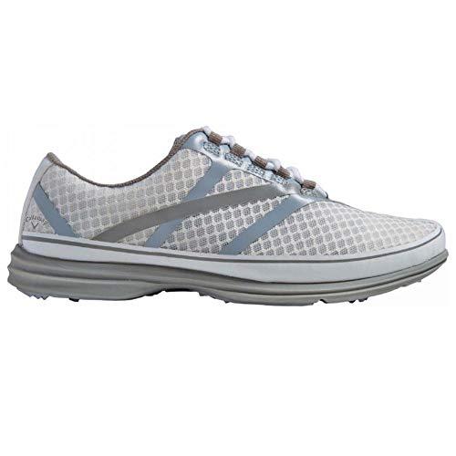 Callaway Footwear Women's Solaire SE-W, White Silver, 5 M US