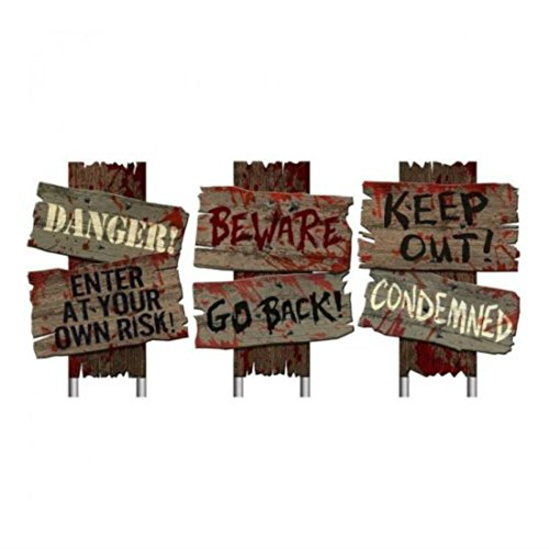 Halloween Yard Signs Decoration Sidewalk Prop Party Haunted House Scary Cemetery Creepy (Make Your Own Halloween Costumes At Home)