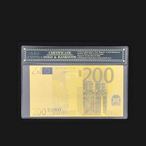 CHENTAOCS 貴重な贈り物、コレクションのための素晴らしい着色ユーロゴールド紙幣5ユーロ紙幣のフェイクマネービルでプラスチックフレーム 使いやすい (色 : 20)