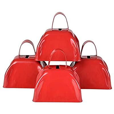 """3"""" RED METAL COWBELL: Toys & Games"""