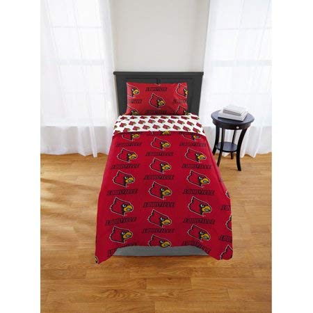- Official Louisville Cardinals Twin Bed in Bag Set