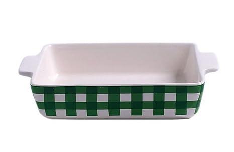 Koala Superstore Hoja de cerámica para Hornear Cocina Artículos para cocinar sartenes para Hornear Magdalena Green