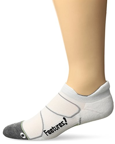 Price comparison product image Feetures! Men's Elite Max Cushion No Show Tab, White + Black, Medium