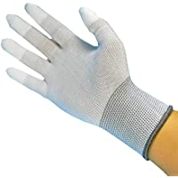 Static Care ESD Anti-Static Assembly Inspection Handling Gloves, Dissipative Nylon, Polyurethan Grip - 12 Pairs XXL