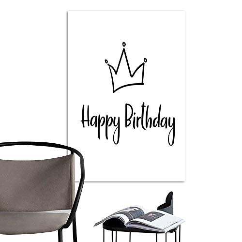 - UHOO Art PaintingsHome DecorationsHappy Birthday Handwritten Inscription for Greeting Card Invitation Poster Vector.jpg Living Room Bedroom Bathroom Modern Artwork 20